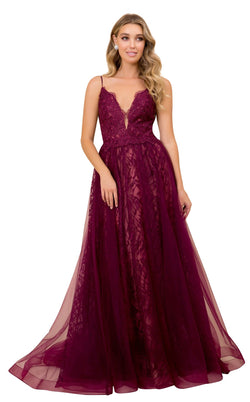 Nox Anabel C305 Dress Wine-Nude