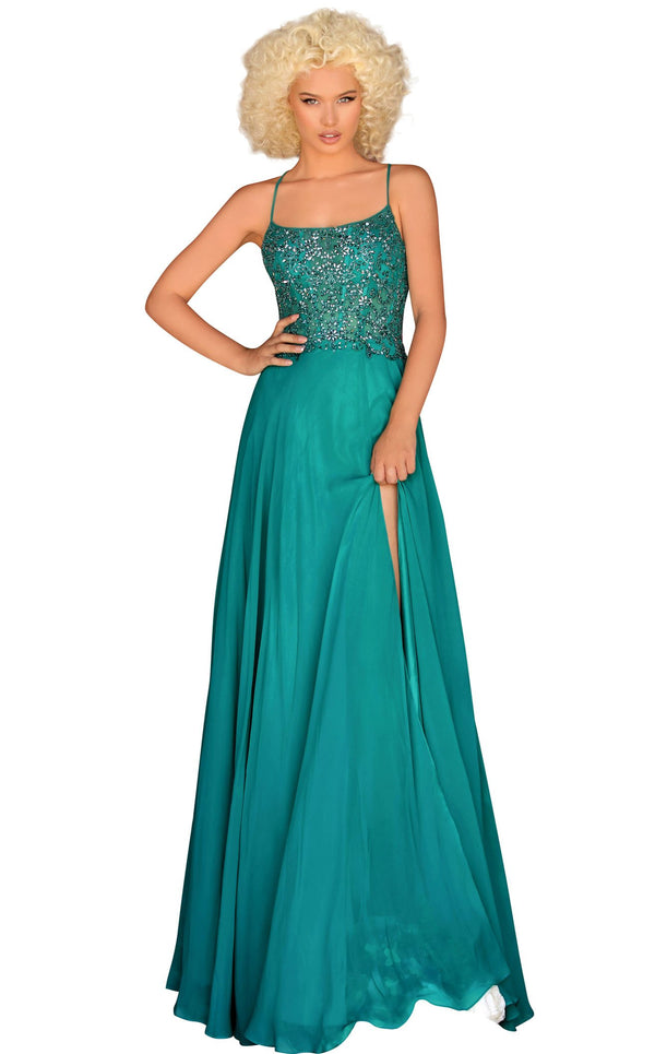 Clarisse 8022 Dress Dark-Emerald