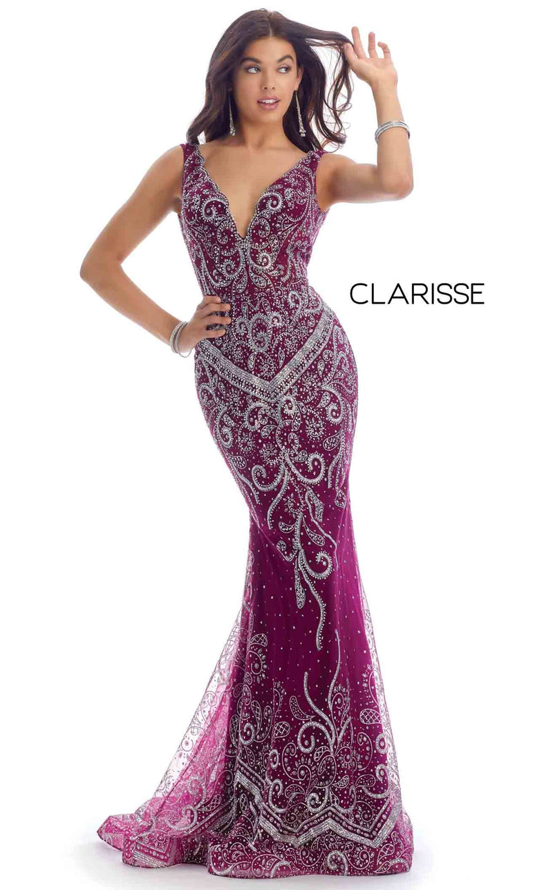 Clarisse 8127 Dress Bordeaux