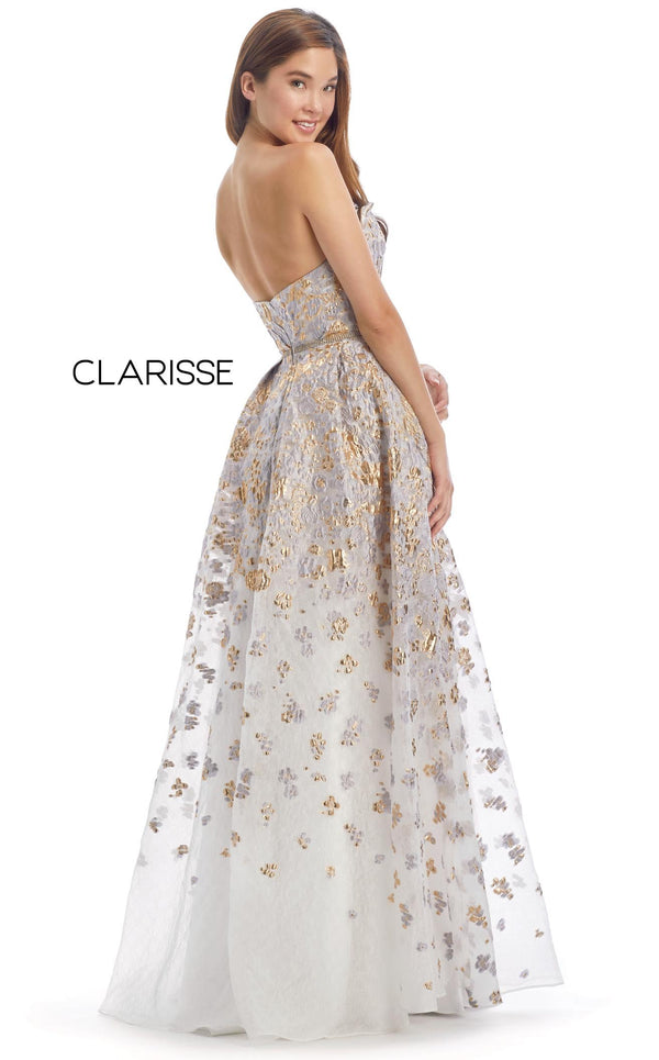 Clarisse 8135 Dress Platinum-Gold