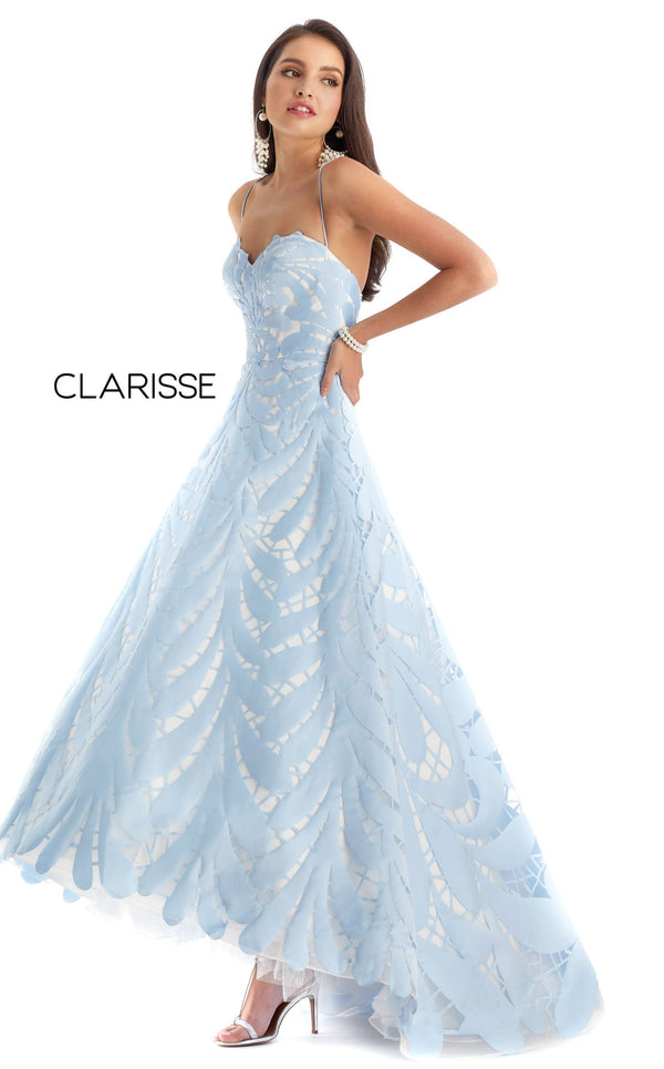 Clarisse 8227 Dress Powder-Blue-White