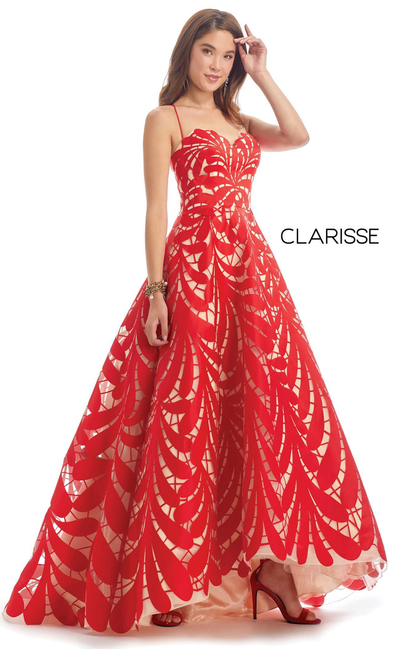 Clarisse 8227 Dress Red-Nude