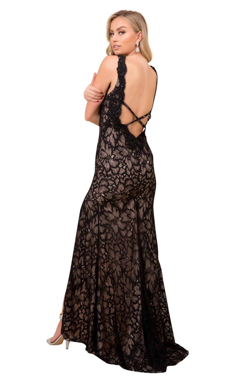 Nox Anabel E374 Dress Black-Nude