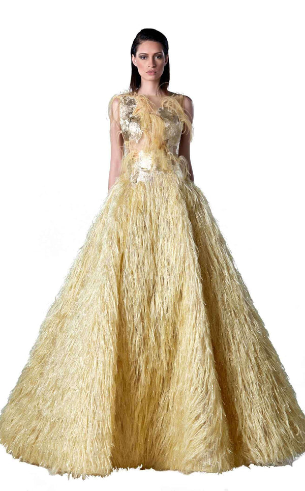 Edward Arsouni Couture FW0437 Yellow