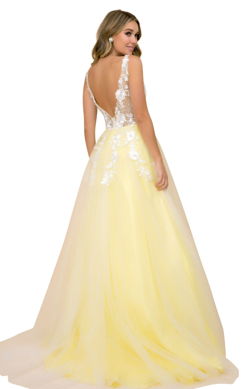 Nox Anabel F339 Dress Pale-Yellow