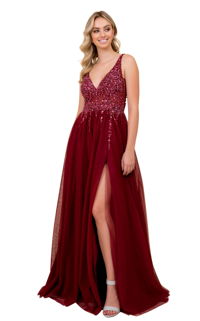 Nox Anabel G272 Dress Burgundy