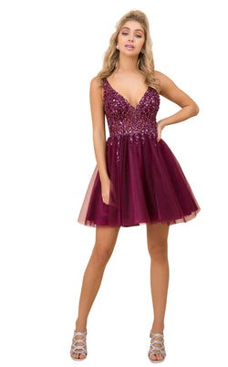 Nox Anabel G694 Dress Wine