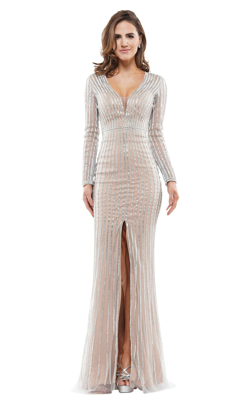 Colors Dress J109 Dress Grey-Nude