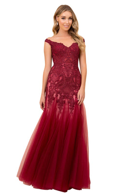 Nox Anabel J325 Dress Burgundy-Nude
