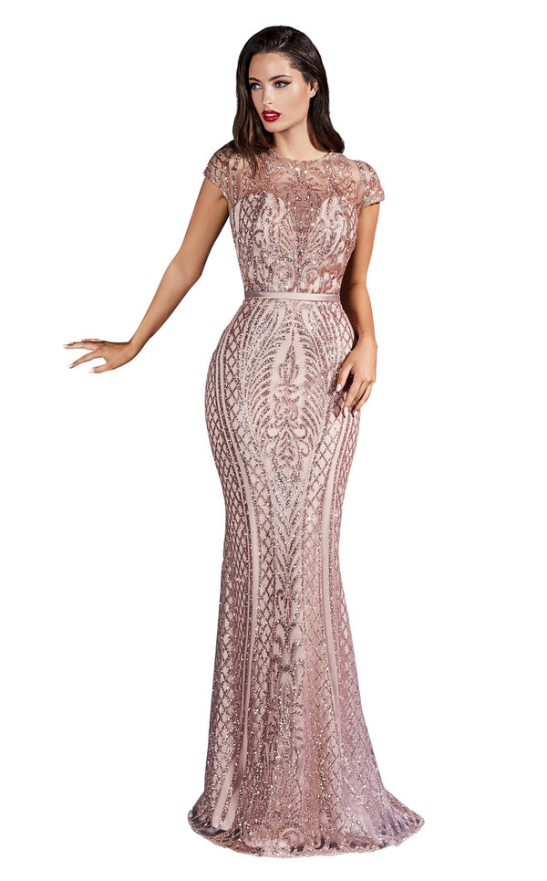 Cinderella Divine J768 Dress Rose-Gold