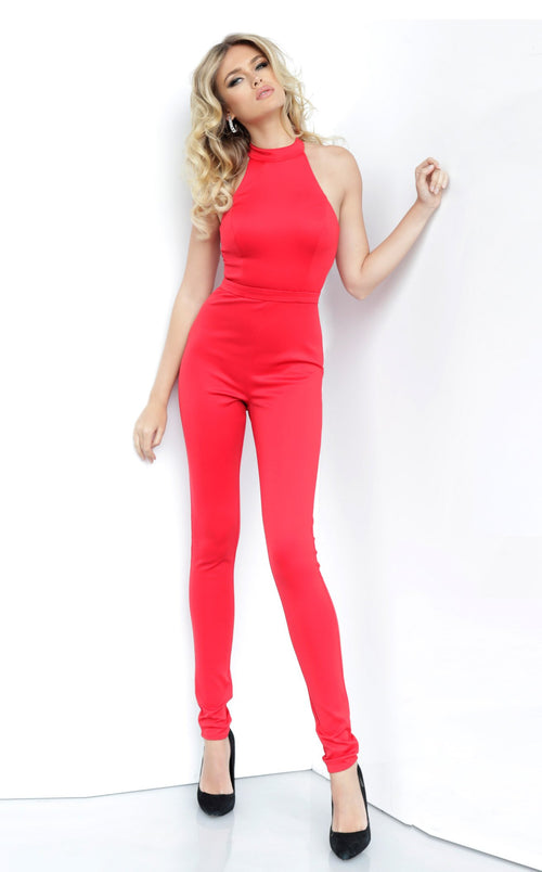 Jovani 1081 Jumpsuit Red