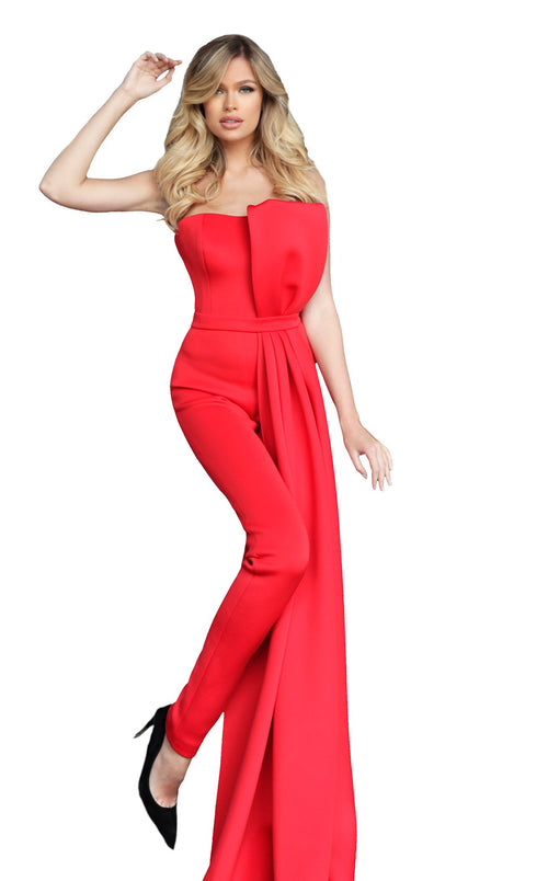 Jovani 1093 Jumpsuit Red