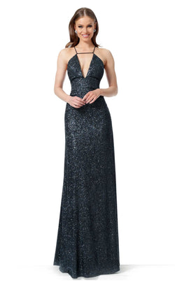 Jovani 1551 Dress Black Blue