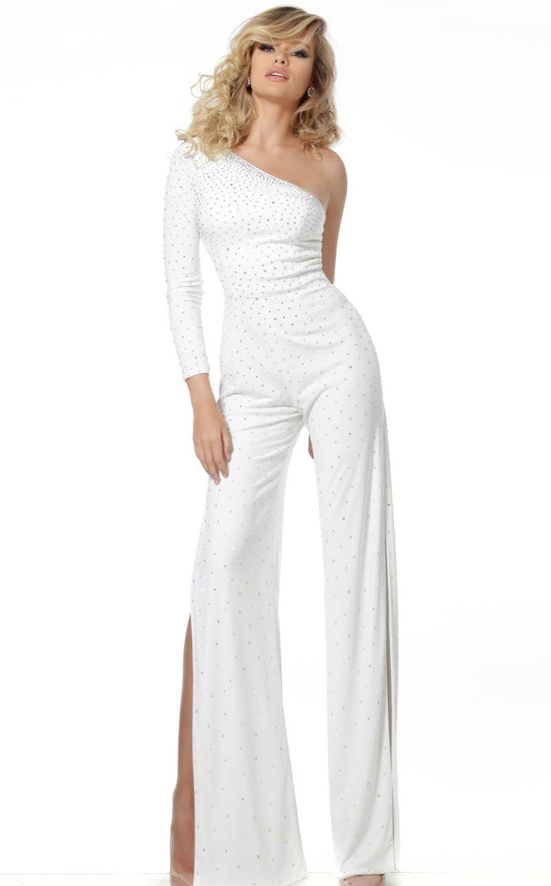 Jovani 1723 Jumpsuit Off White