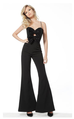 Jovani 18891 Jumpsuit Black