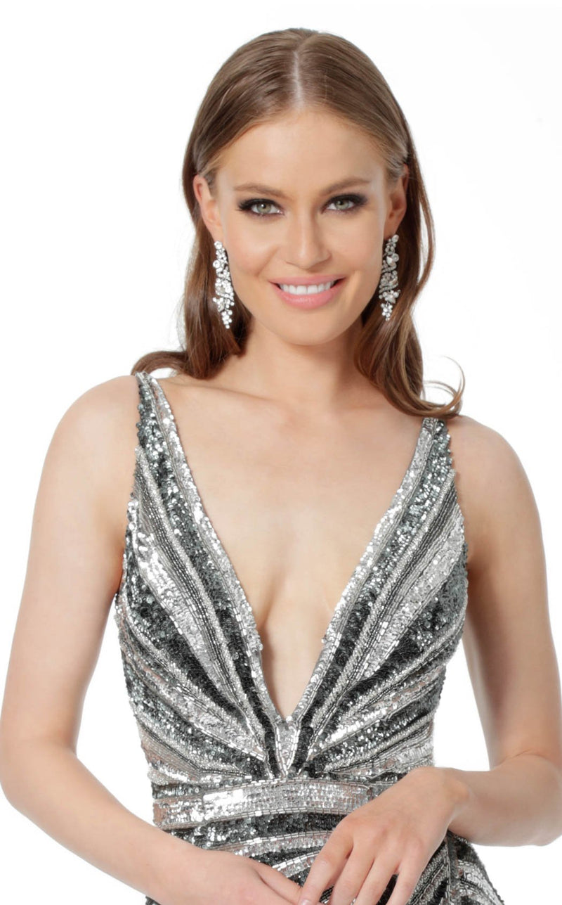 Jovani 3685 Dress Gunmetal