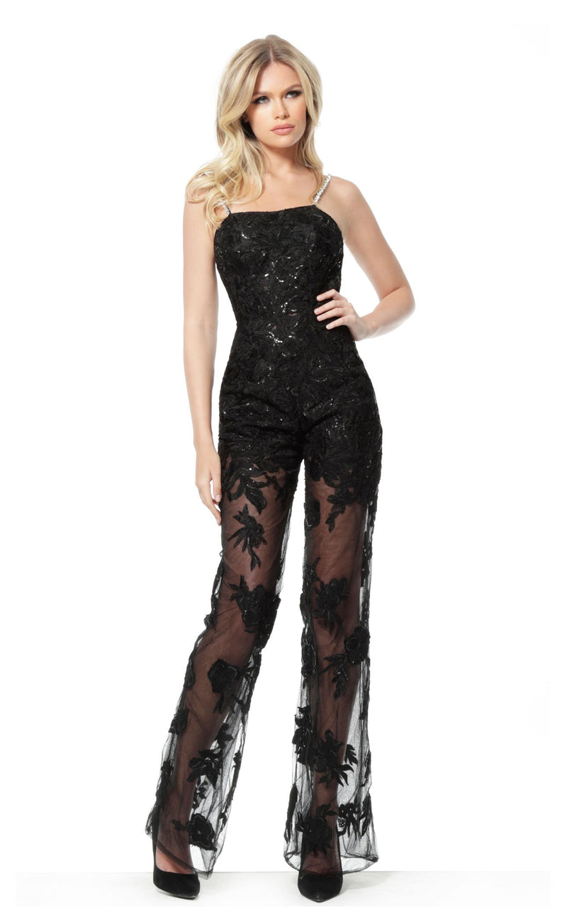 Jovani 59225 Jumpsuit Black