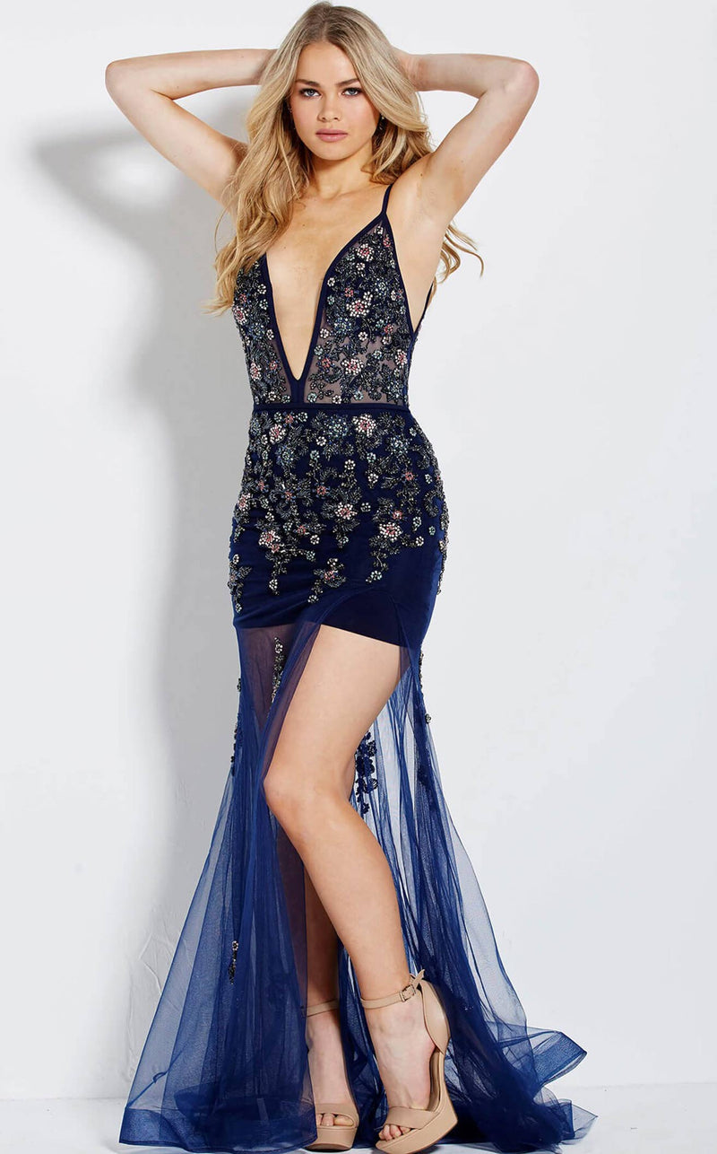 Jovani 61086 Navy Multi