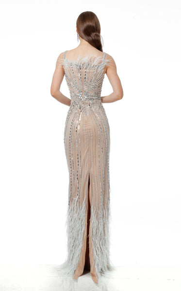 Jovani 66234 Dress Light Blue Nude