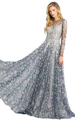 Mac Duggal 12233D Dress Silver