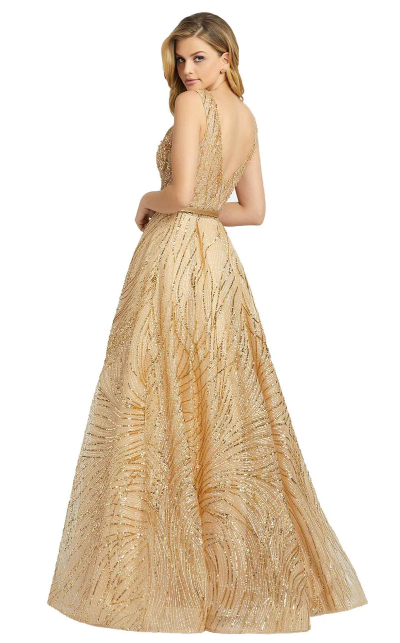 Mac Duggal 20114D Dress Gold