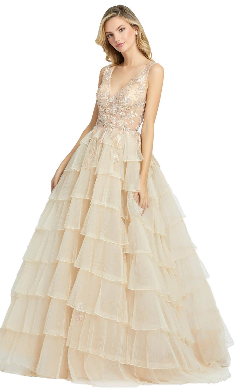 Mac Duggal 20136D Dress Champagne