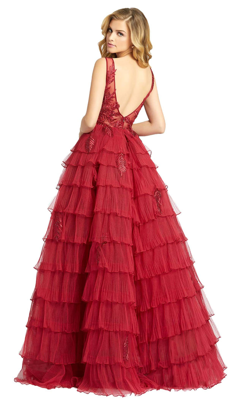 Mac Duggal 20136D Dress Deep Red