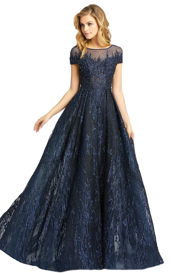 Mac Duggal 20141D Dress Midnight Blue