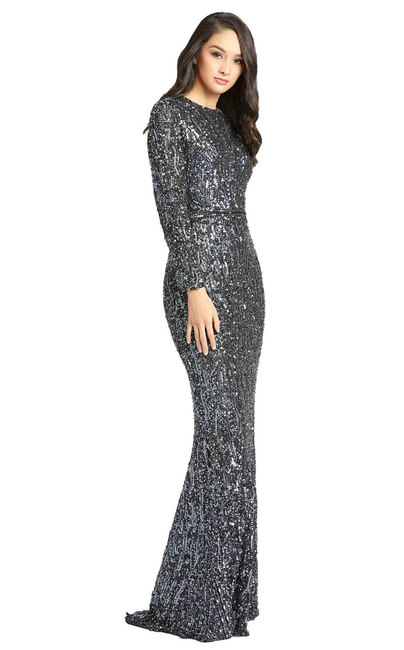 Mac Duggal 4975D Dress Gunmetal