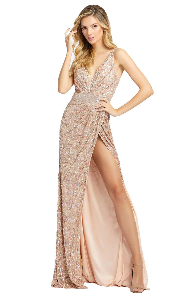 Mac Duggal 4995D Dress Rose Gold