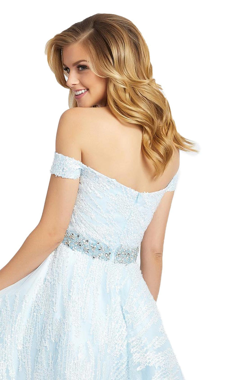 Mac Duggal 66981D Dress Ice Blue