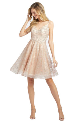 Mac Duggal 67025D Dress Rose Gold