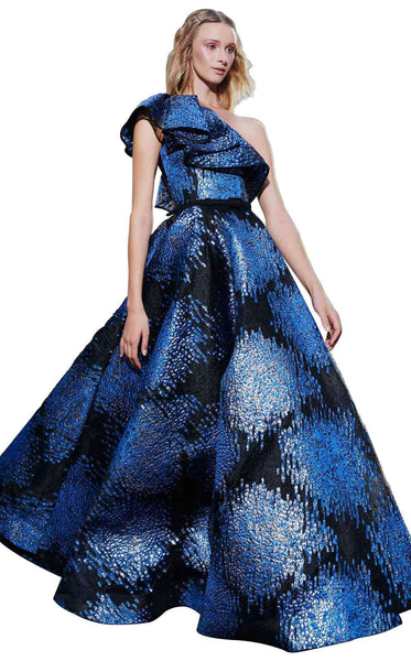 MNM Couture N0292 Dress Blue-Black