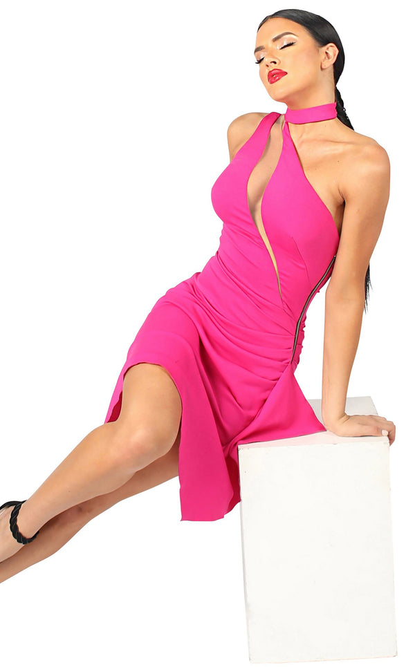 Nicole Bakti 672 Dress Fuchsia