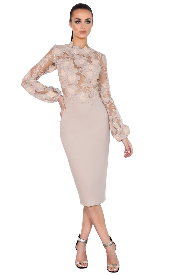 Nicole Bakti 6854 Dress Dusty-Rose