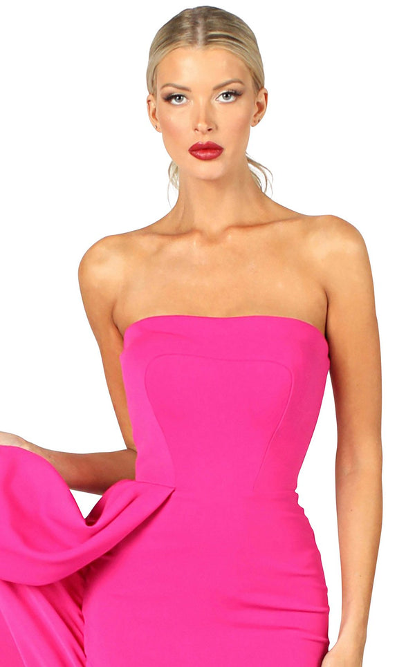 Nicole Bakti 6942 Dress Fuchsia