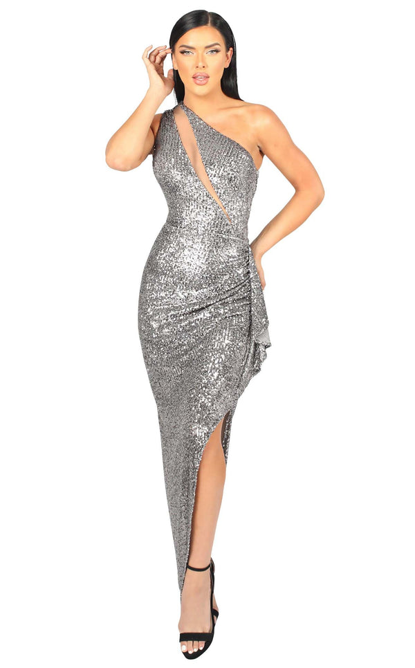 Nicole Bakti 6961 Dress Gunmetal-Grey