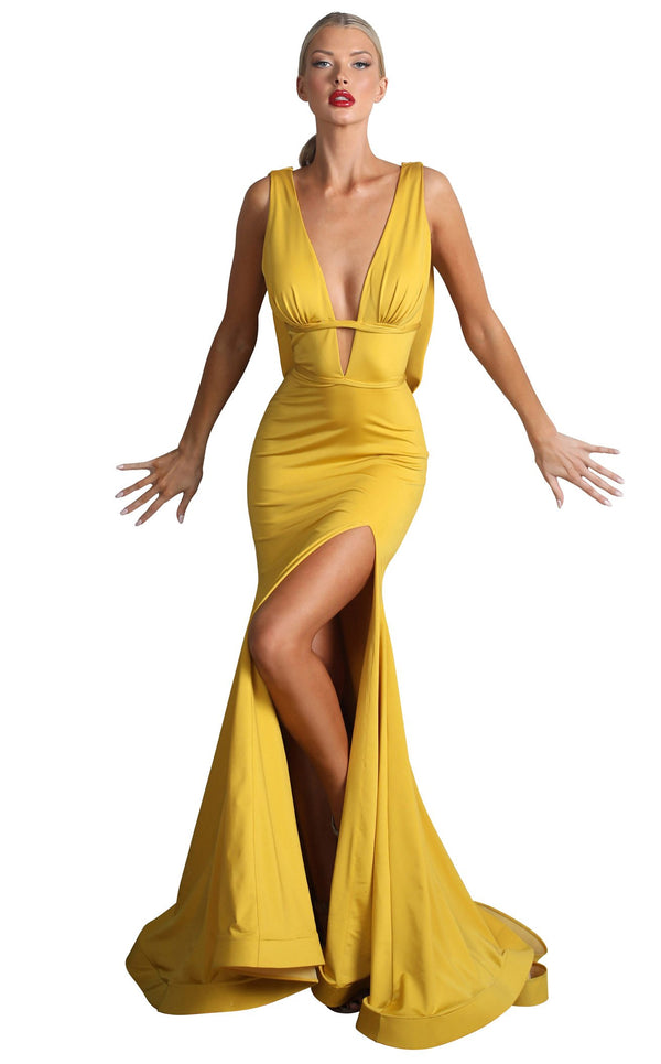 Nicole Bakti 6989 Dress Chartreuse