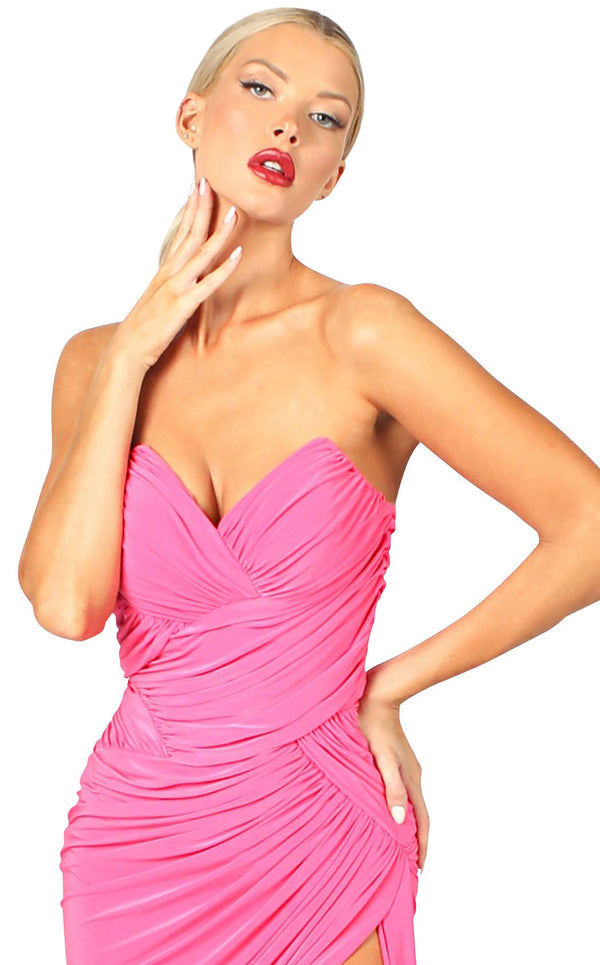Nicole Bakti 6991 Dress Hot-Pink