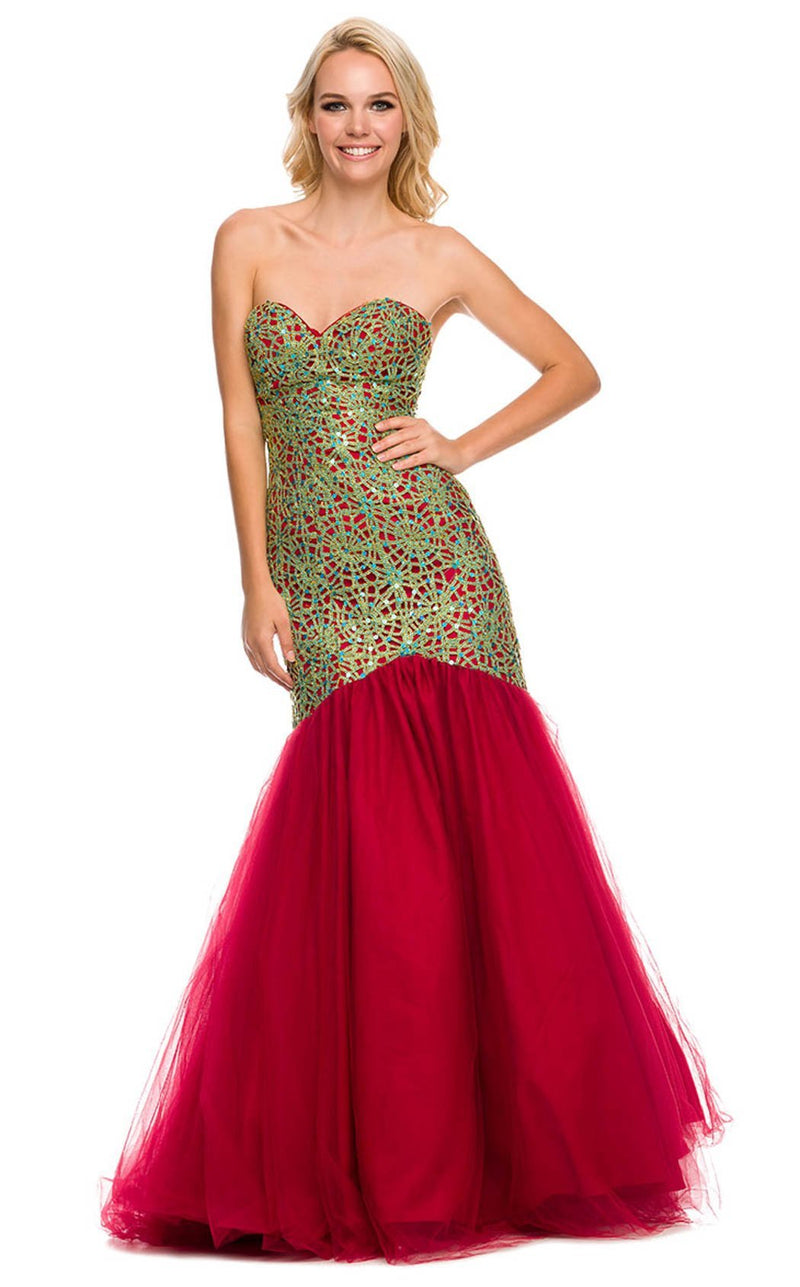 Nox Anabel 3123 Dress Green-Red