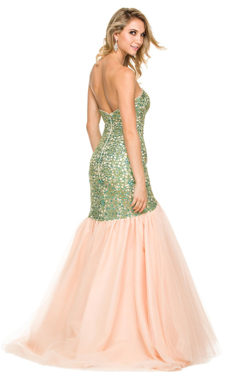 Nox Anabel 3123 Dress Green-Nude