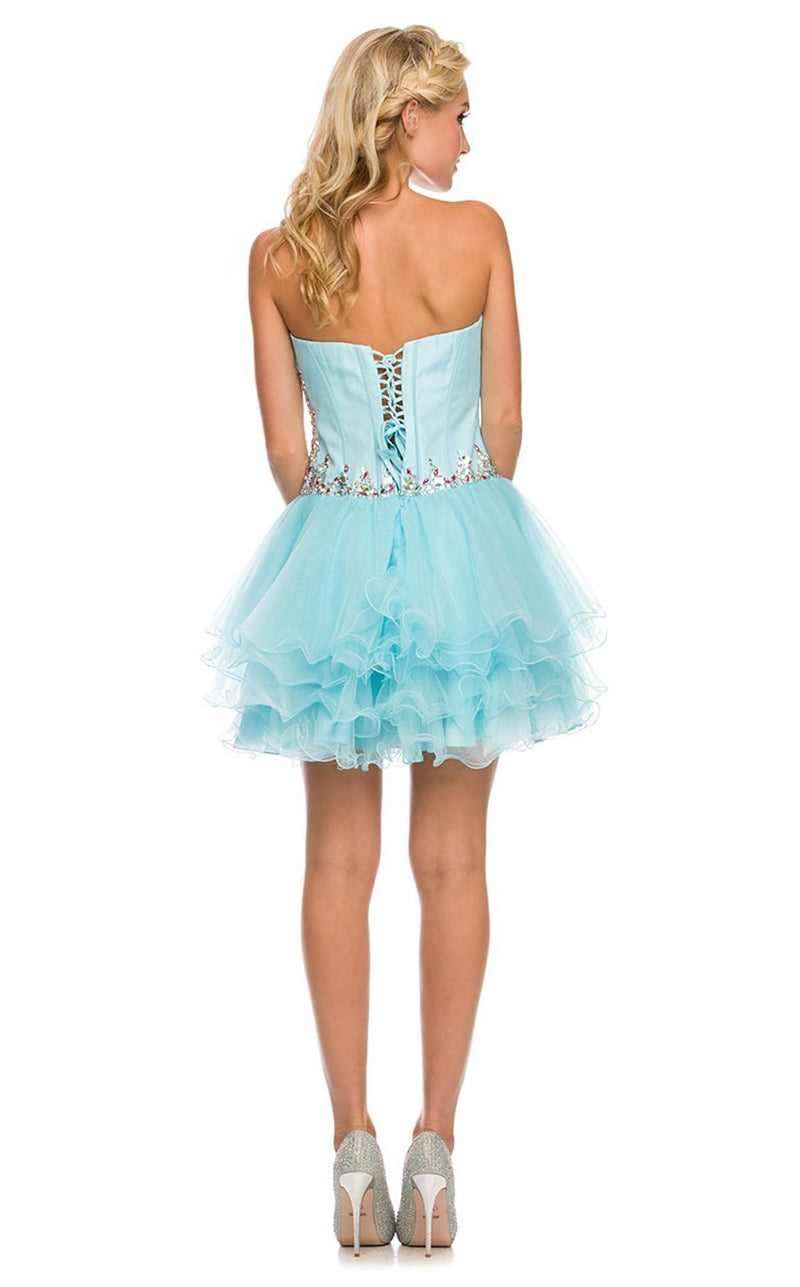 Nox Anabel 6007 Dress Aqua-Blue
