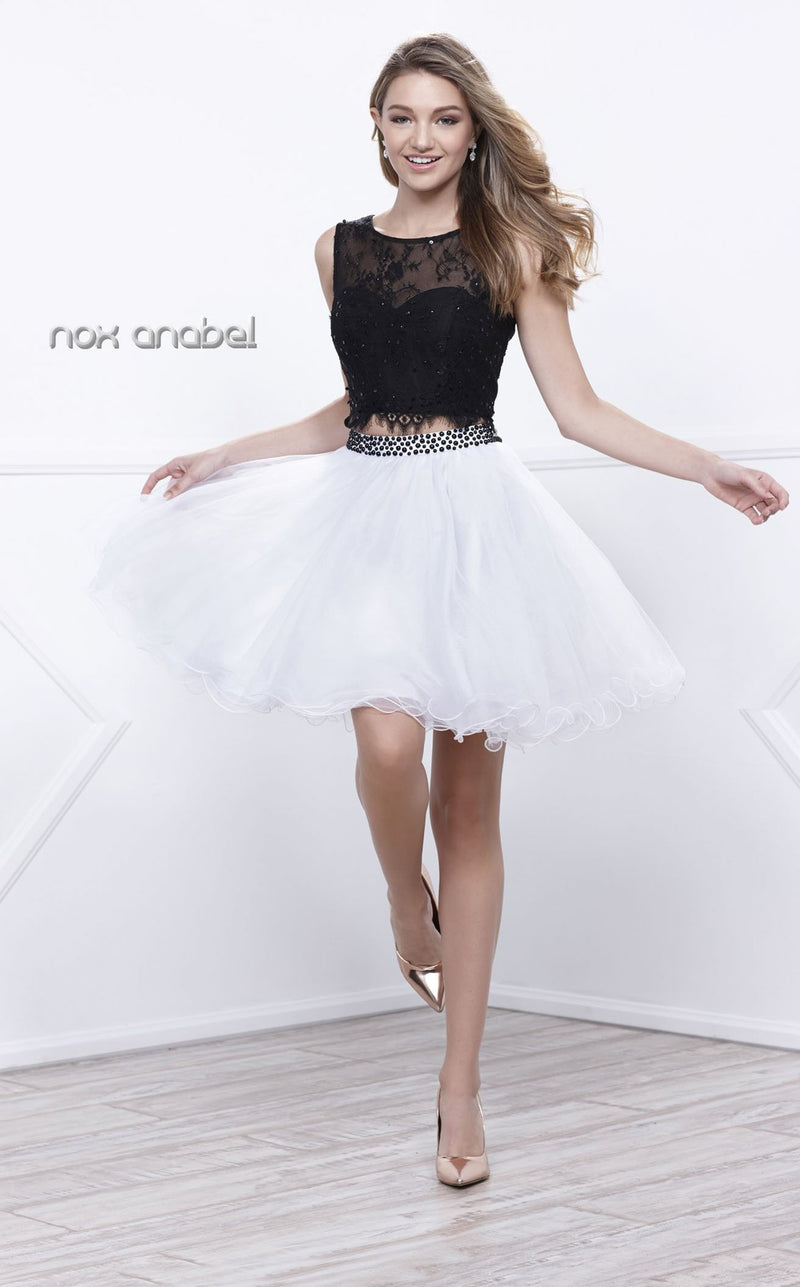 Nox Anabel 6224 Dress White-Black