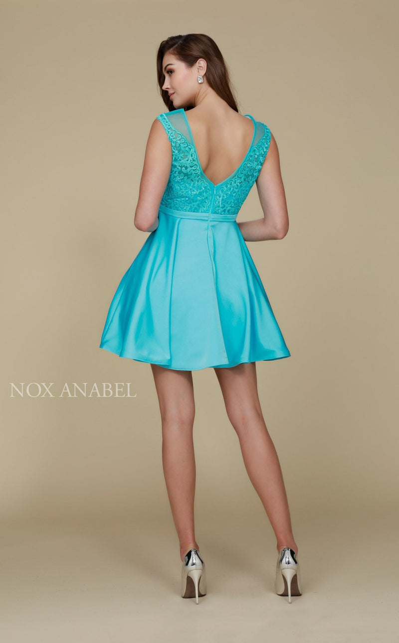Nox Anabel 6288 Dress Aqua-Blue