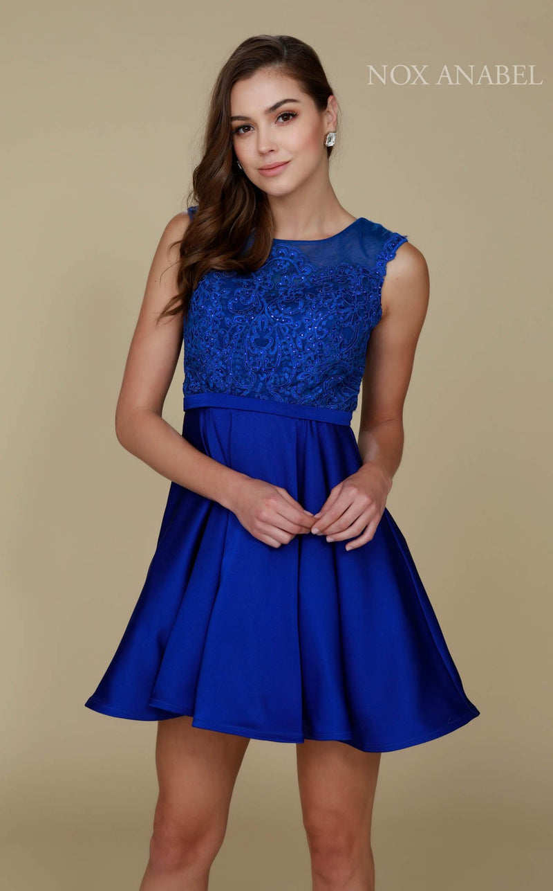 Nox Anabel 6288 Dress Royal-Blue