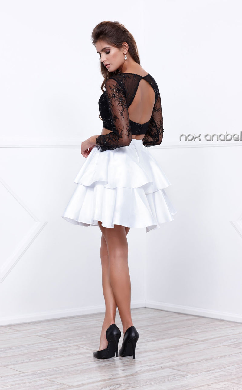 Nox Anabel 6290 Dress White-Black