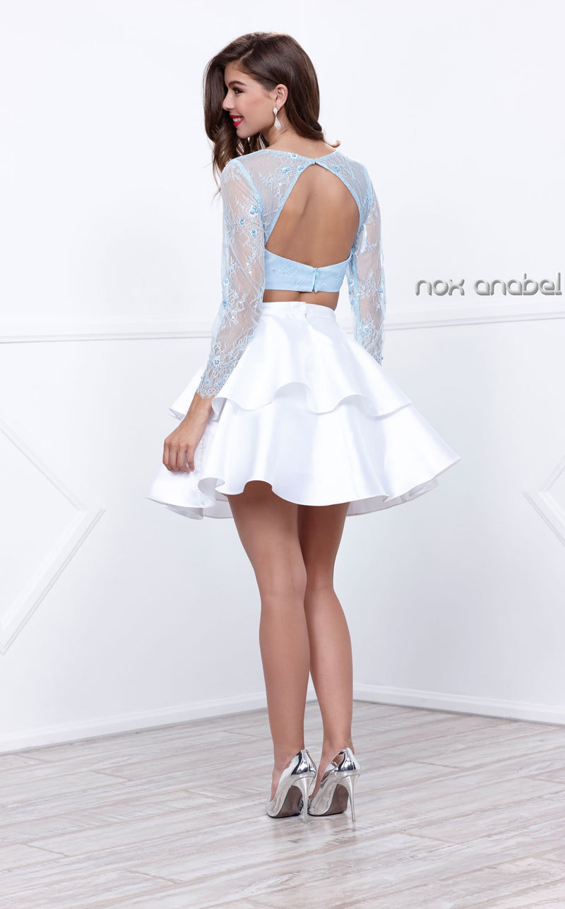 Nox Anabel 6290 Dress Ice-Blue-White