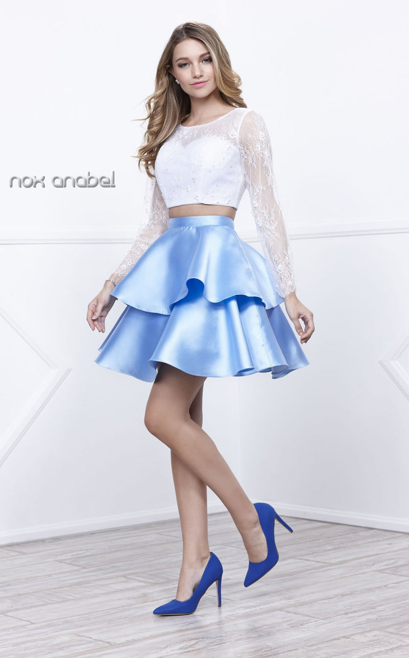 Nox Anabel 6290 Dress White-Ice-Blue