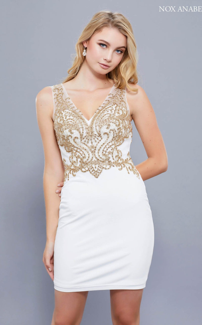 Nox Anabel 6318 Dress Ivory