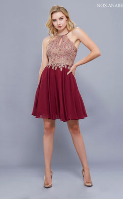 Nox Anabel 6324 Dress Burgundy
